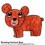How to Draw a Cartoon Bear