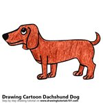 How to Draw a Cartoon Dachshund Dog