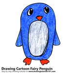 How to Draw a Cartoon Fairy Penguin