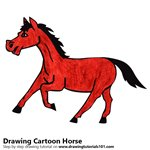 How to Draw a Cartoon Horse