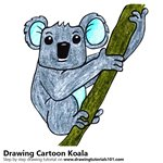 How to Draw a Cartoon Koala
