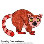 How to Draw a Cartoon Lemur