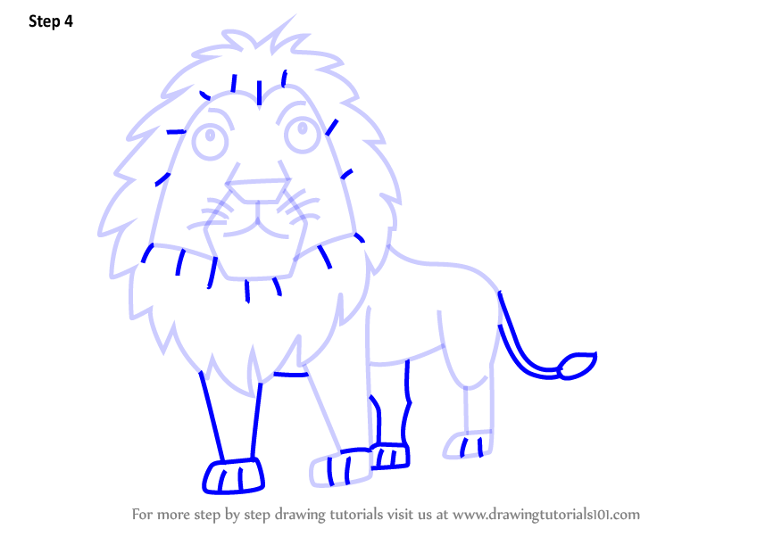 how to draw a lion in 4 easy steps