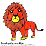 How to Draw a Cartoon Lion