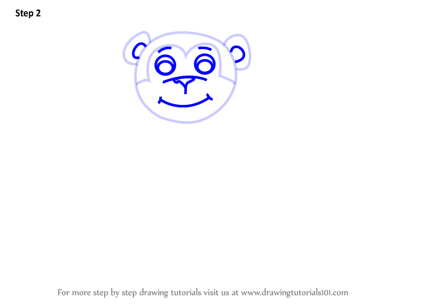 how to draw a monkey step by step for kids