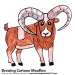 How to Draw a Cartoon Mouflon