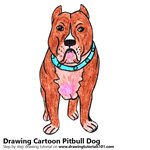 How to Draw a Cartoon Pitbull Dog