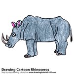 How to Draw a Cartoon Rhinoceros