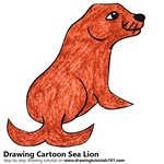 How to Draw a Cartoon Sea Lion