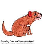 How to Draw a Cartoon Tasmanian Devil