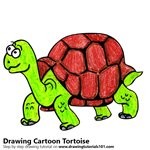 How to Draw a Cartoon Tortoise