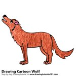 How to Draw a Cartoon Wolf