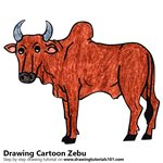 How to Draw a Cartoon Zebu