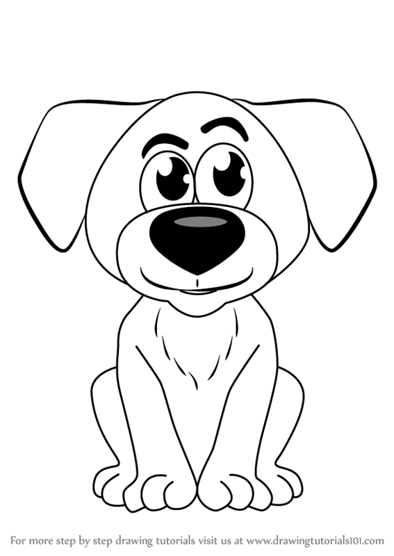 Learn How To Draw Cartoon Doggie Cartoons For Kids Step By Step