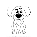 How to Draw Cartoon Doggie