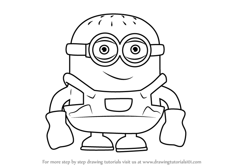 Learn How To Draw Minion Cartoon Cartoons For Kids Step By Step Drawing Tutorials