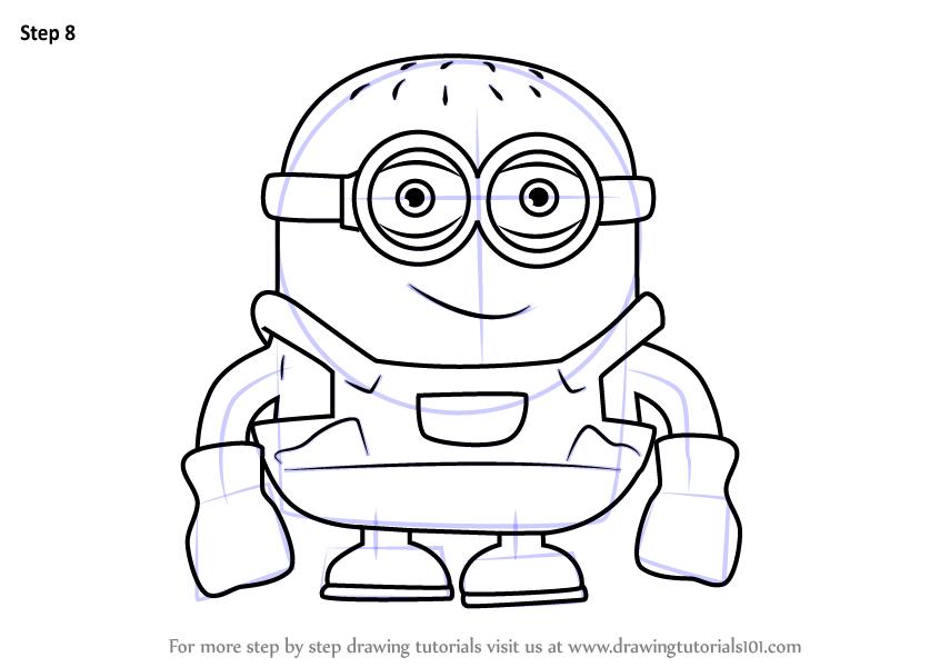 Learn How to Draw Minion Cartoon (Cartoons for Kids) Step ...