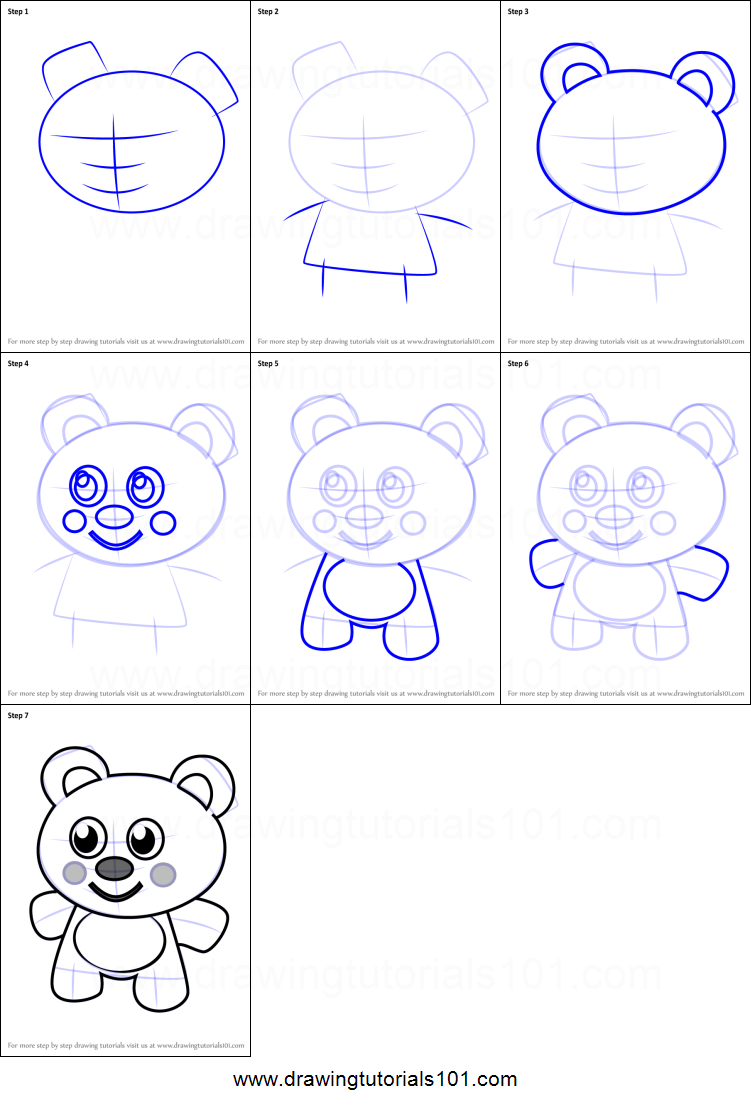 how to draw teddy bear for kids printable step by step drawing sheet drawingtutorials101com - Drawing Sheet For Kids