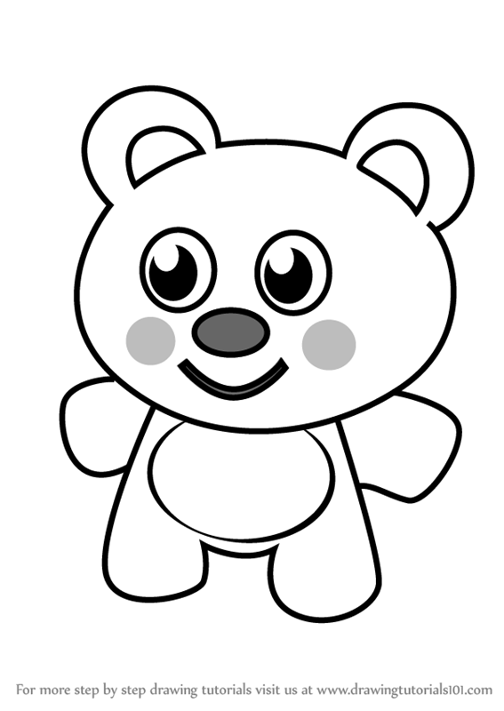 Learn How To Draw Teddy Bear For Kids Cartoons For Kids Step By Step Drawing Tutorials