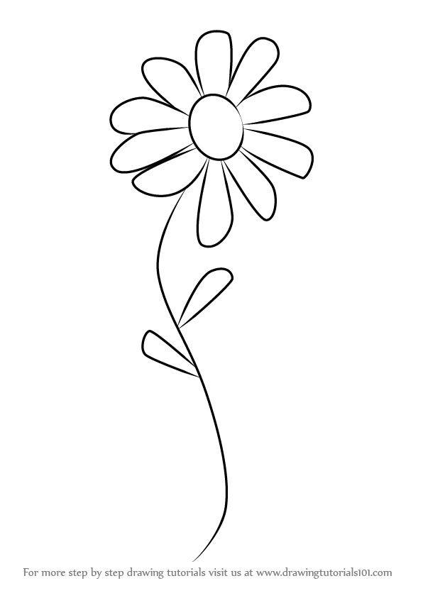 Learn How To Draw A Flower For Kids Flowers Step By Drawing Tutorials