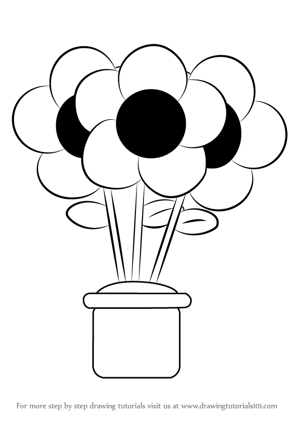 How To Draw A Flower Pot