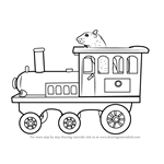 How to Draw Toy Train Engine