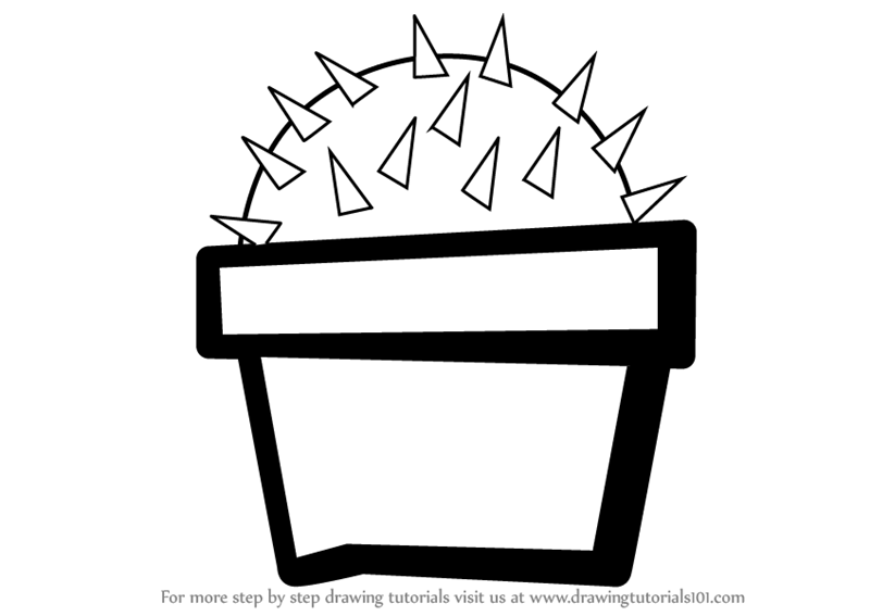 Learn How To Draw A Cactus Plant For Kids Plants For Kids Step By