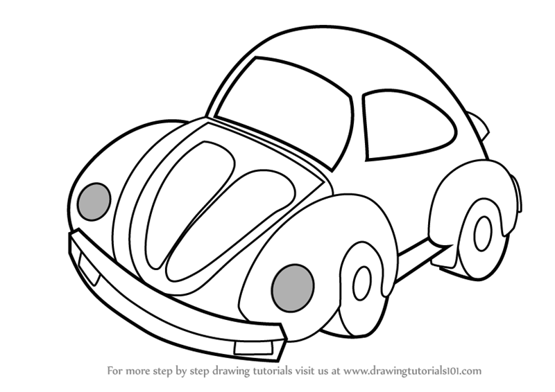 Learn How To Draw A Car For Kids Vehicles Step By Step Drawing