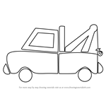How to Draw Tow Truck for Kids
