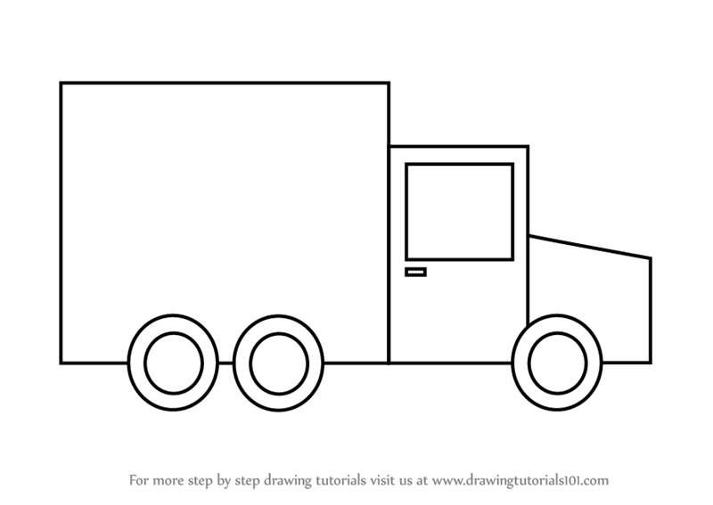 learn how to draw transport truck for kids vehicles step