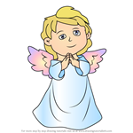 How to Draw Christmas Angel
