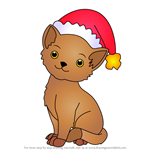 How to Draw Christmas Cat