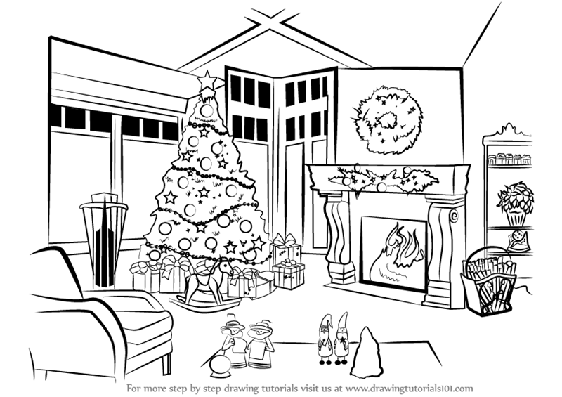Learn How to Draw Christmas Celebrations (Christmas) Step by Step ...