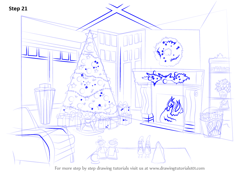 Christmas Celebration Images For Drawing.Learn How To Draw Christmas Celebrations Christmas Step By