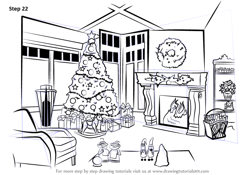 Learn How To Draw Christmas Celebrations Christmas Step