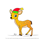 How to Draw Christmas Deer