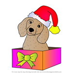 How to Draw Christmas Dog