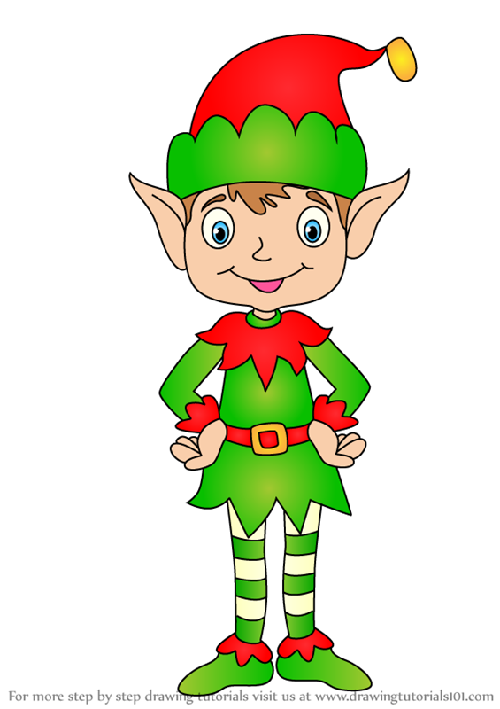 Learn How to Draw Christmas Elf (Christmas) Step by Step