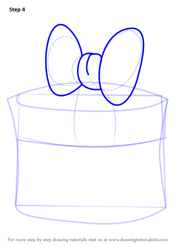 Christmas Gift Box Drawing.Learn How To Draw Christmas Giftbox With Ribbon Christmas
