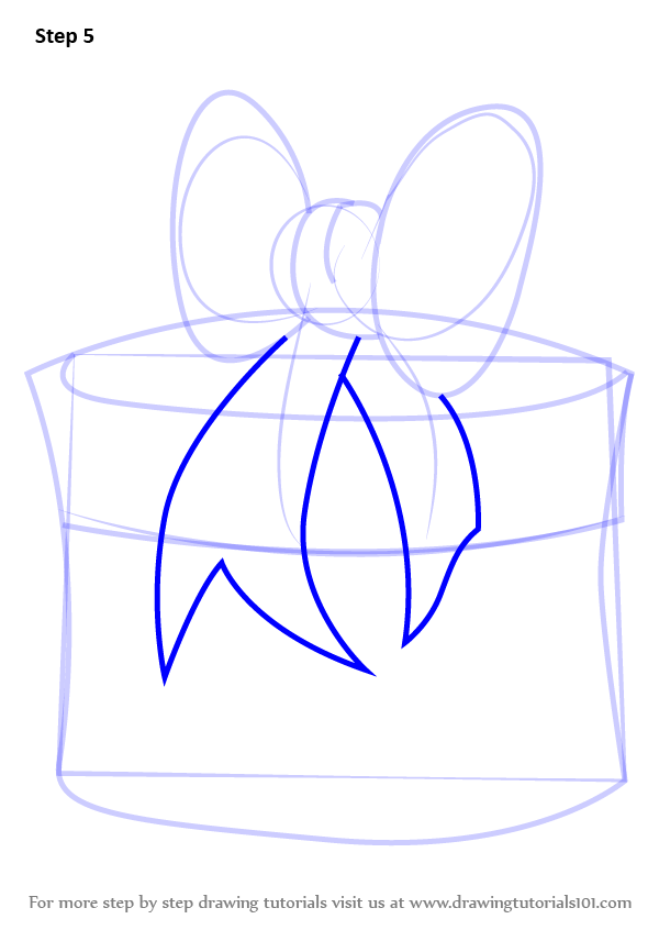 Learn How To Draw Christmas Giftbox With Ribbon Christmas