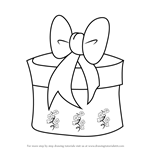 How to Draw Christmas Giftbox with Ribbon