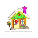 How to Draw Christmas Gingerbread House