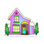 How to Draw Christmas House