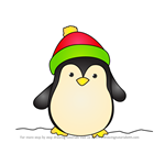 How to Draw Christmas Penguin