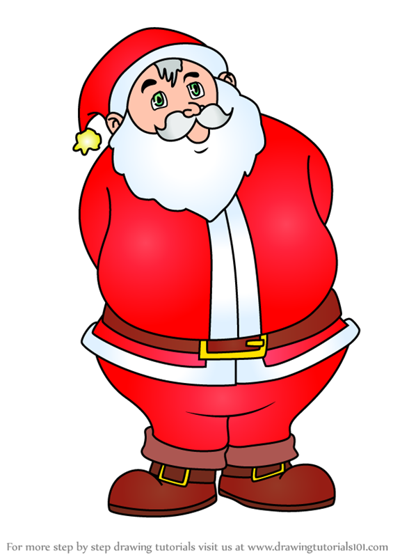 Learn How To Draw Christmas Santa Christmas Step By Step