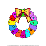 How to Draw Christmas Wreath