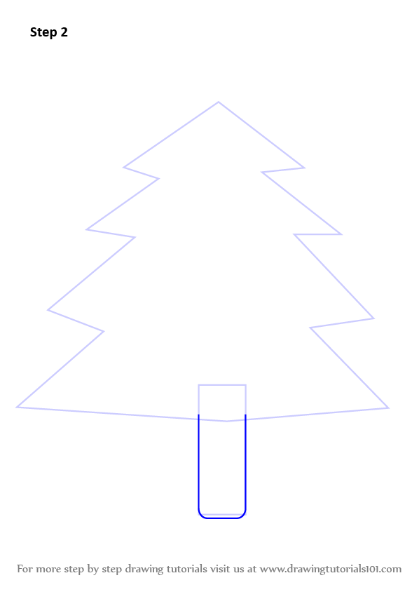 Learn How to Draw Decorated Christmas Tree (Christmas) Step by Step : Drawing Tutorials