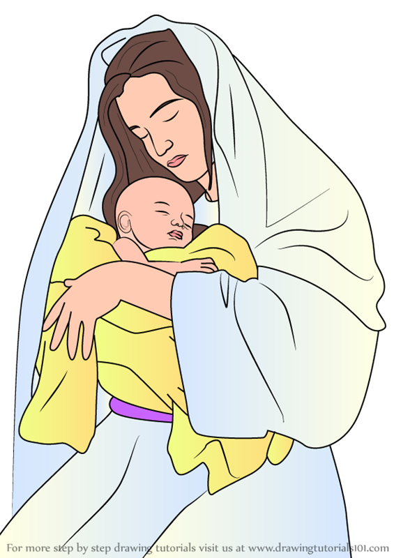 How To Draw A Mom Holding A Baby
