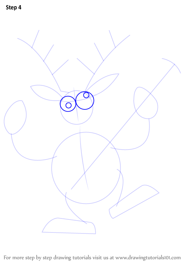 learn how to draw a reindeer with guitar christmas step