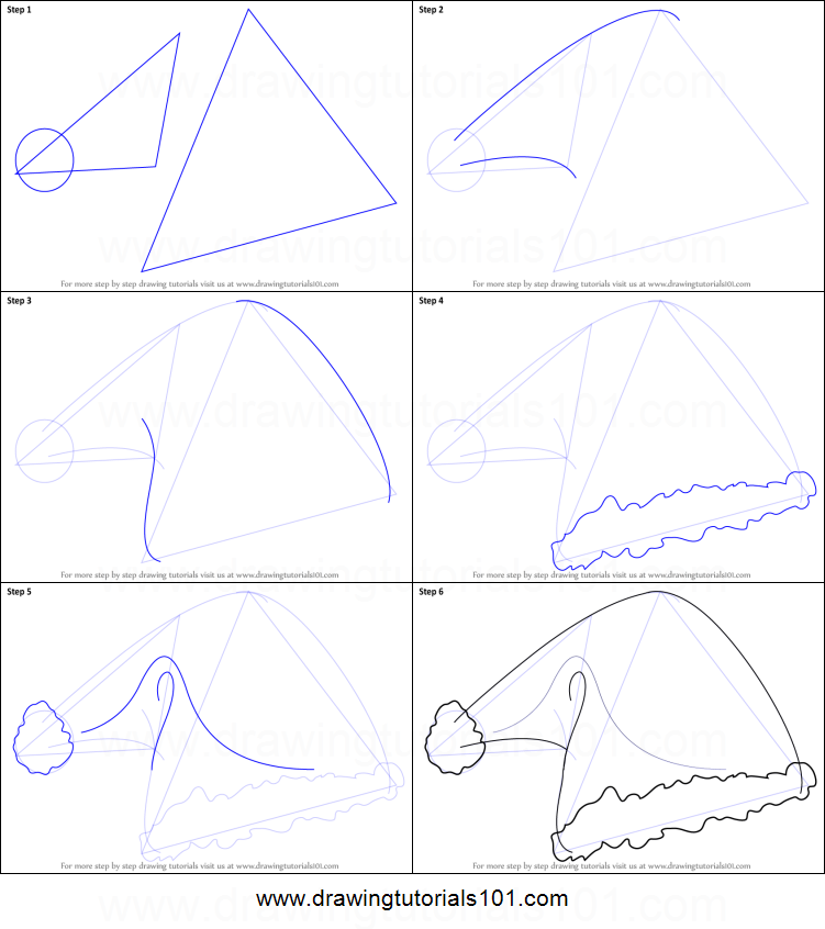 photograph relating to Santa Hat Printable identified as How in the direction of Attract Santas Hat printable phase through action drawing sheet